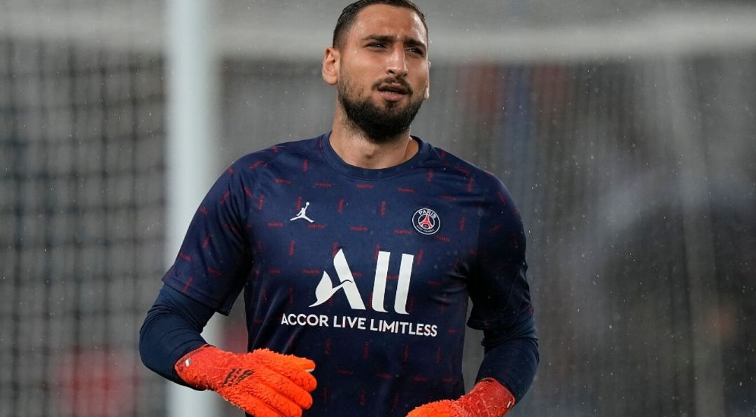 Gianluigu Donnarumma looks away from PSG after just two months at the club